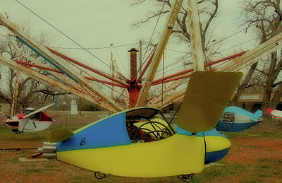 Photograph - Blue And Yellow Plane Ride by Tony Grider