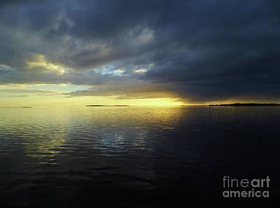 Photograph - Blue And Yellow Sunset by D Hackett