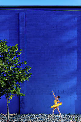 Photograph - Blue And Yellow- Urban by Dave Koch