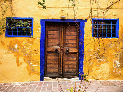 Photograph - Blue And Yellow Wall by Rae Tucker