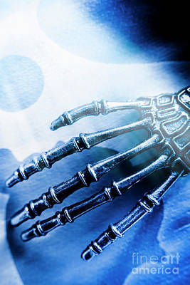 Fiction Photograph - Blue Android Hand by Jorgo Photography - Wall Art Gallery