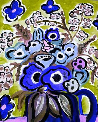 Painting - Blue Anemones by Nikki Dalton
