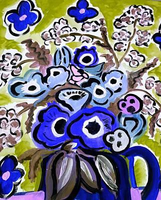 Painting - Blue Anemones by Nikki Dalton