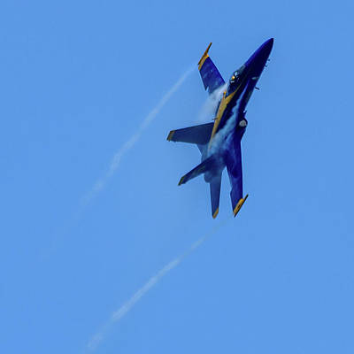 Photograph - Blue Angel 5 Contrails by Randy Scherkenbach