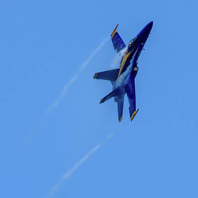 Photograph - Blue Angel 5 Contrails by Randy Scherkenbach
