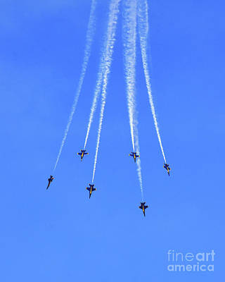 Photograph - Blue Angel Aerobatics by Scott Cameron