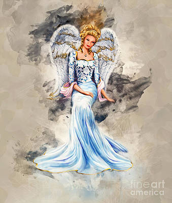 Digital Art - Blue Angel by Ian Mitchell