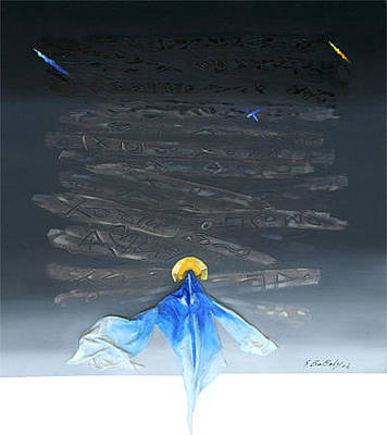Mixed Media - Blue Angel  by Saadi Babely
