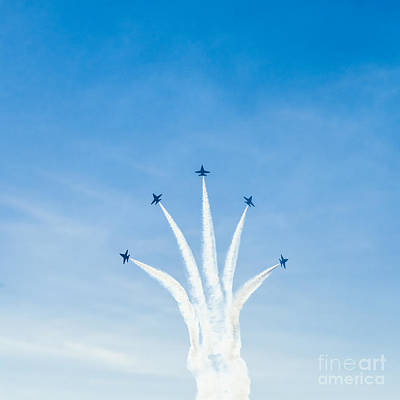 Photograph - Blue Angel Signature Break-away by Jim DeLillo