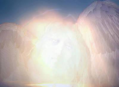 Spiritual Painting - Blue Angel by Valerie Anne Kelly