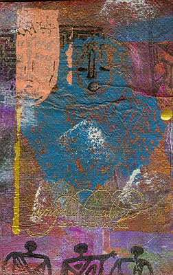 Mixed Media - Blue Angel Watches Over Me by Angela L Walker