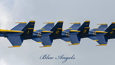 Photograph - Blue Angels 10 by Susan  McMenamin