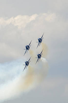 Photograph - Blue Angels 11 by Susan  McMenamin