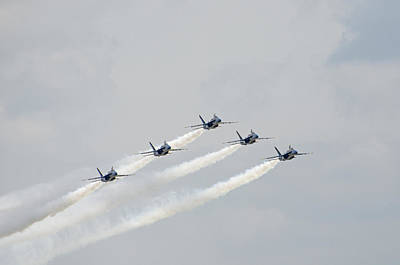 Photograph - Blue Angels 13 by Susan  McMenamin