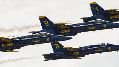 Photograph - Blue Angels 14 by Susan  McMenamin