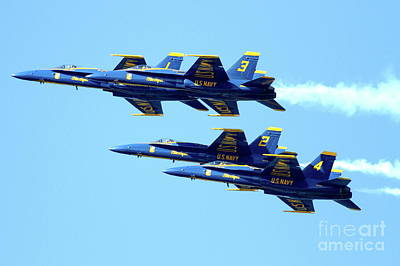 Jet Photograph - Blue Angels 4 Team Formation 2 by Wingsdomain Art and Photography