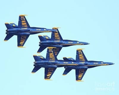 Jet Photograph - Blue Angels 4 Team Formation 3 by Wingsdomain Art and Photography