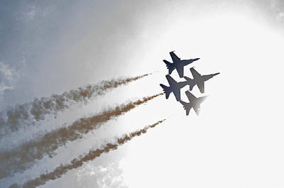 Photograph - Blue Angels 7 by Susan  McMenamin