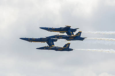 Photograph - Blue Angels 8 by Susan  McMenamin