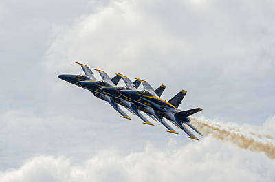 Photograph - Blue Angels 9 by Susan  McMenamin