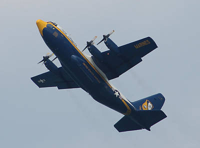 Photograph - Blue Angel's B-25 by Robert Banach