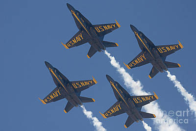 Photograph - Blue Angels Blue Skies by Bob Hislop