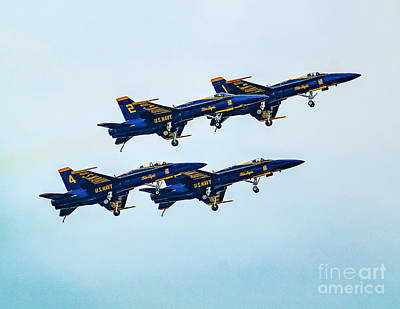 Photograph - Blue Angels Carrier Landing by Nick Zelinsky