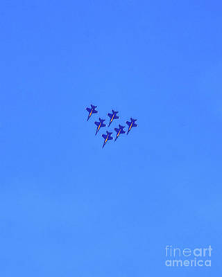 Photograph - Blue Angels - Close Formation by Scott Cameron