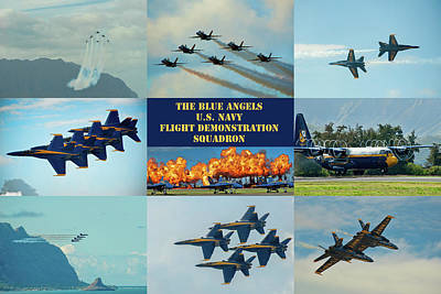 Photograph - Blue Angels Compilation by Dan McManus