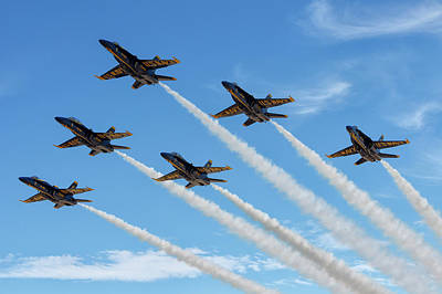 Photograph - Blue Angels Delta by Jay Beckman