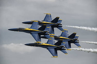 Photograph - Blue Angels Diamond by Eric Miller