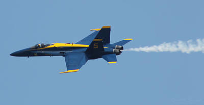 Photograph - Blue Angels F/a-18 Hornet by Robert Banach