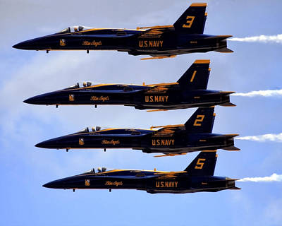 Photograph - Blue Angels Formation IIi by Gigi Ebert