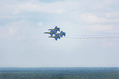 Photograph - Blue Angels Four-ship Formation by Kay Brewer
