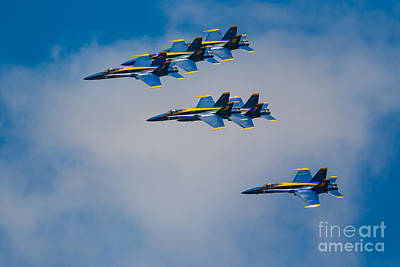 Airshow Photograph - Blue Angels by Inge Johnsson