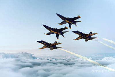 Us Navy Digital Art - Blue Angels by J Biggadike