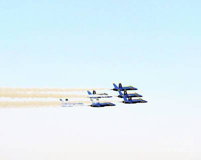Digital Art - Blue Angels Jet Formation by Scott Cameron