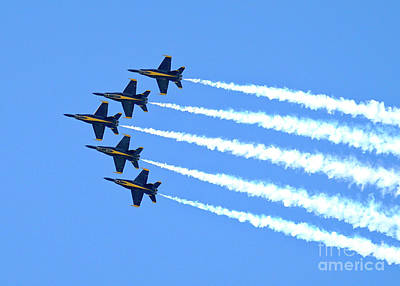 Photograph - Blue Angels by Jim Poulos