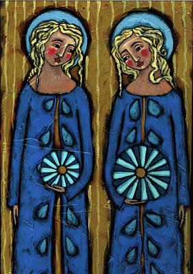 Blue Angels Art Print by Julie-Ann Bowden