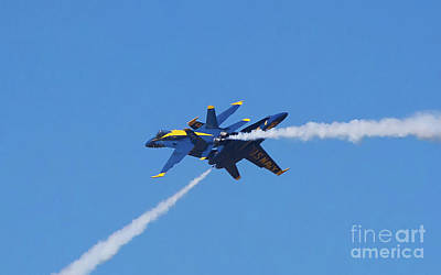 Photograph - Blue Angels Near Collision by Rick Bures