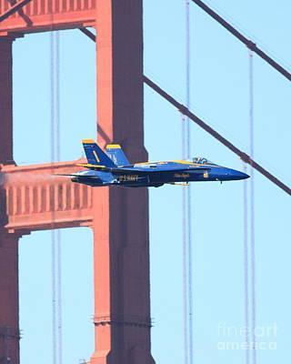 Blue Angels No.1 Crossing The Golden Gate Bridge Art Print