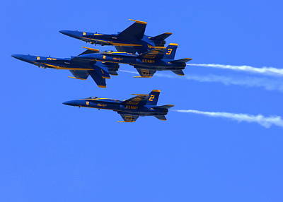 Photograph - Blue Angels Perform Over San Francisco Bay by John King