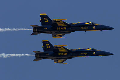 Photograph - Blue Angels Solos In Formation by John Daly