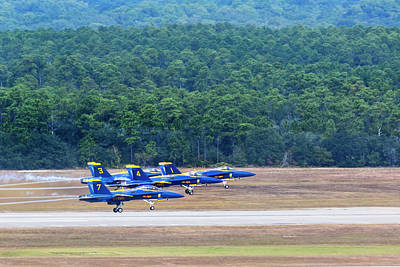 Photograph - Blue Angels Take Off by Kay Brewer