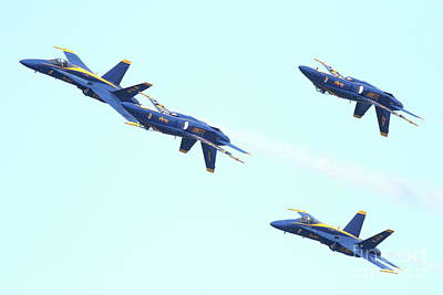 Jet Photograph - Blue Angels Up Is Down by Wingsdomain Art and Photography