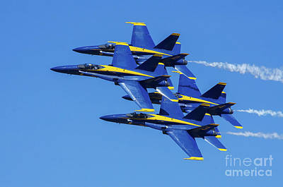 Photograph - Blue Angels Very Close Formation 1 by Rick Bures