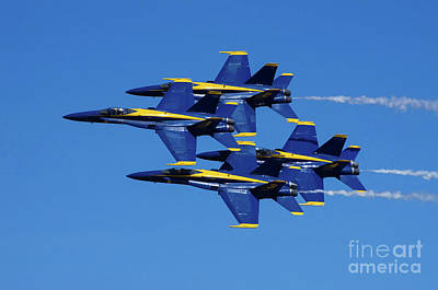 Photograph - Blue Angels Very Close Formation 2 by Rick Bures