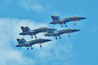 Photograph - Blue Angels by William Bartholomew