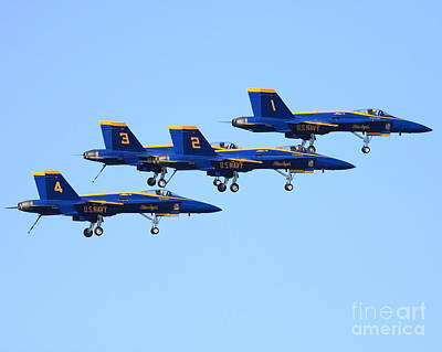 Blue Angels With Landing Gear Down Art Print by Wingsdomain Art and Photography