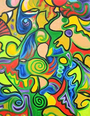 Alfredo Llana Painting - Blue Angle by Alfredo Dane Llana
